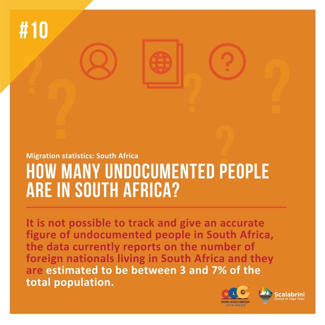 HOW MANY UNDOCUMENTED PEOPLE ARE IN SOUTH AFRICA?