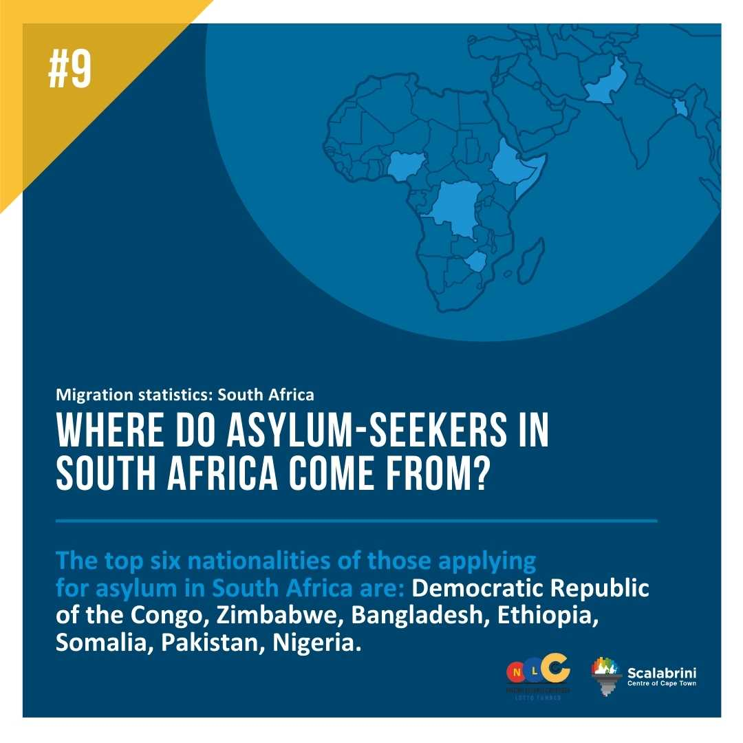 WHERE DO THE MAJORITY OF ASYLUM SEEKERS IN SOUTH AFRICA COME FROM ?